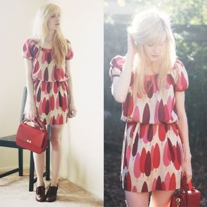 Orla Kiely Pink Trees Dress Size 4